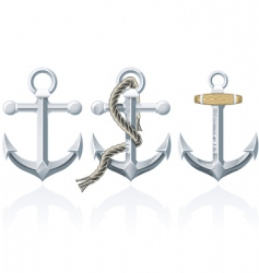 rusty anchor vector image vector image