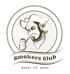 Smokers Club vector image vector image