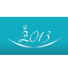 White 2013 year on a blue background vector image vector image