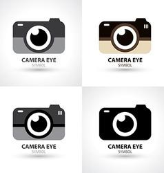 Camera eye symbol icon vector image