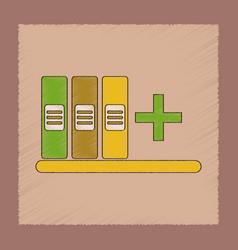 Flat shading style icon shelf folder vector