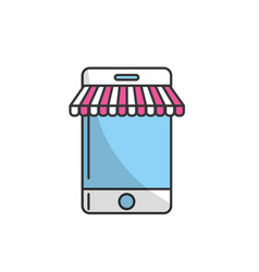 technology smartphone to business information vector image vector image