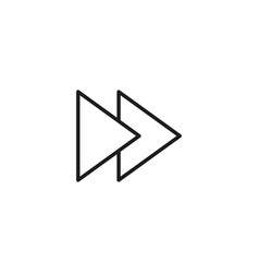 forward icon vector image vector image