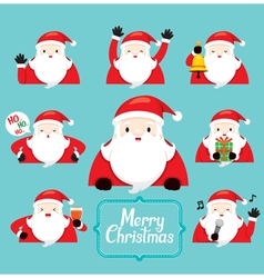 Santa Character With Different Actions set vector image vector image