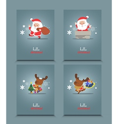 Set of cute Christmas character vector image