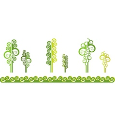 Abstract trees vector