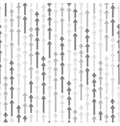 Abstract white seamless pattern arrow up vector