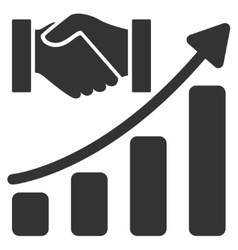 Acquisition Hands Growth Chart Flat Icon vector
