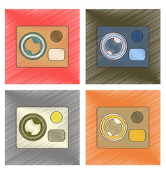 assembly flat shading style icon technology vector image