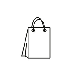 bag for shopping icon vector image