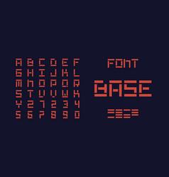 base bold font alphabet vector image