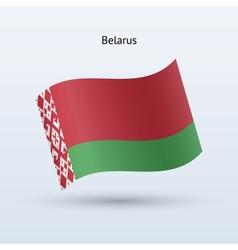 Belarus flag waving form vector image