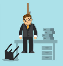 businessman hanged himself vector image