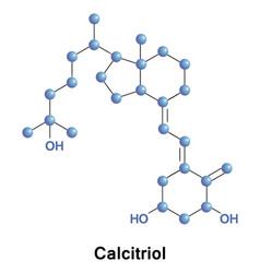 calcitriol dihydroxyvitamin d3 vector image vector image