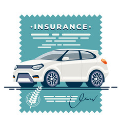 Car insurance deal signed vector