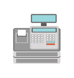 cash register for business concept vector image
