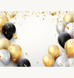 celebration banner happy birthday party vector image