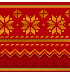 christmas stitch vector image