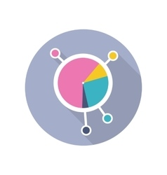 Circle Diagram Icon in Flat Style Design vector image