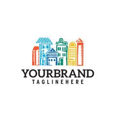 city town logo template design vector image