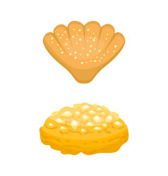 Cookie homemade breakfast bake cakes isolated and vector