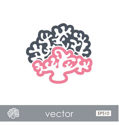 coral outline icon summer vacation vector image