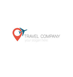 creative logo travel agency tourism company vector image