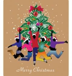 cute Christmas design vector image