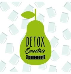 Detox pear icon Organic food design vector