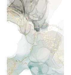 Digital paper marble watercolor in blue grey vector