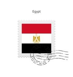 Egypt flag postage stamp vector