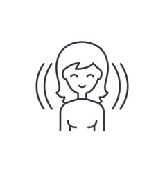 female user line icon concept female user vector image