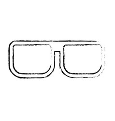 Figure nice glasses accessory to can see vector
