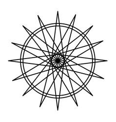 Geometric figure icon vector