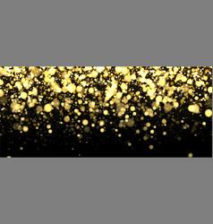Gold blurred banner on black background vector
