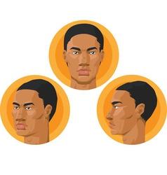 Head African American Man vector image vector image