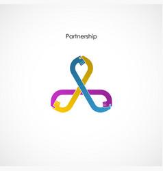 Human hand icon abstract logo design vector