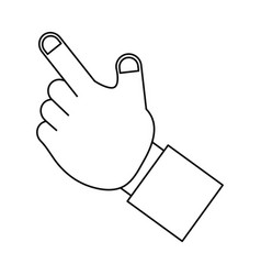 isolated human hand vector image