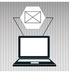 laptop apps icon vector image