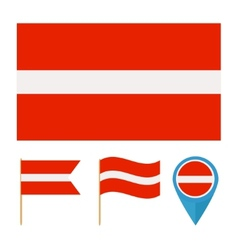 Latvia country flag vector