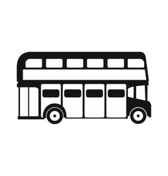 London double decker bus icon simple style vector image