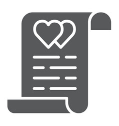 Marriage contract glyph icon document and vector