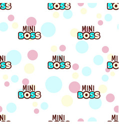 mini boss seamless pattern vector image