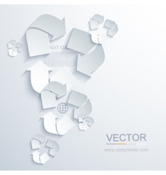 Modern recycle background vector
