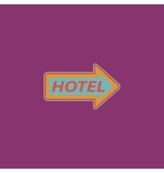Motel signboard vector