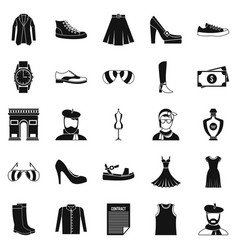 Old fashion icons set cartoon style vector