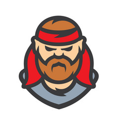 old pirate cartoon vector image