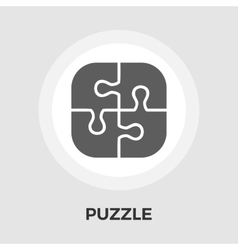 Puzzle flat icon vector