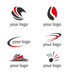 set logos vector image