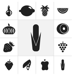 set of 12 editable dessert icons includes symbols vector image